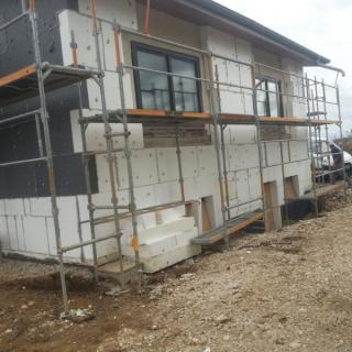 Maçonnerie générale : Aménagement extérieur d'une maison à Olendon
